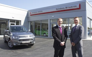 Sales manager Greg Davies, left,  with dealer principal Tony Roberts